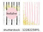bridal shower card with dots... | Shutterstock .eps vector #1228225891