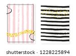 bridal shower set with dots and ... | Shutterstock .eps vector #1228225894