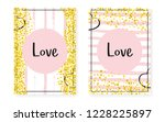 bridal shower card with dots... | Shutterstock .eps vector #1228225897