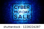 cyber monday sale on digital... | Shutterstock .eps vector #1228226287