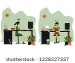 vector flat cartoon... | Shutterstock .eps vector #1228227337