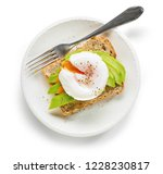 healthy sandwich with poached... | Shutterstock . vector #1228230817