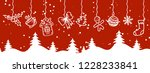 merry christmas and happy new...   Shutterstock .eps vector #1228233841