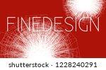 minimal white on red design... | Shutterstock .eps vector #1228240291