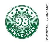 98 years anniversary.... | Shutterstock .eps vector #1228245304