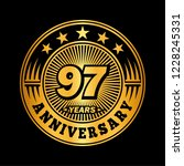 97 years anniversary.... | Shutterstock .eps vector #1228245331