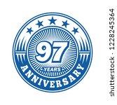 97 years anniversary.... | Shutterstock .eps vector #1228245364