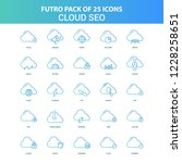 25 green and blue futuro cloud... | Shutterstock .eps vector #1228258651