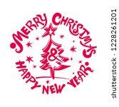 merry christmas   happy new... | Shutterstock .eps vector #1228261201