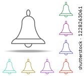 bell outline icon. elements of...