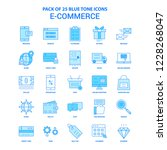 e commerce blue tone icon pack  ... | Shutterstock .eps vector #1228268047