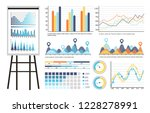 infographics and tables on... | Shutterstock .eps vector #1228278991
