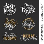 happy holidays and best wishes  ...   Shutterstock .eps vector #1228282414