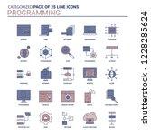 vintage programming icon set  ... | Shutterstock .eps vector #1228285624