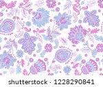 indian rug tribal ornament... | Shutterstock .eps vector #1228290841