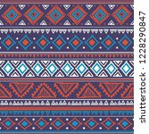 indian rug tribal ornament... | Shutterstock .eps vector #1228290847