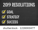 new year 2019 resolutions on...   Shutterstock . vector #1228303477