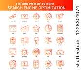 orange futuro 25 search engine... | Shutterstock .eps vector #1228304074