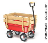 toy mini wagon with wooden side ... | Shutterstock . vector #1228313284