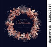 merry christmas greeting card... | Shutterstock .eps vector #1228313614