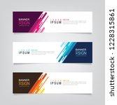 vector abstract banner design... | Shutterstock .eps vector #1228315861
