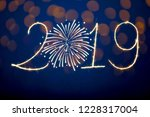 happy new year 2019 with... | Shutterstock . vector #1228317004