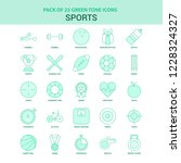 25 green sports icon set | Shutterstock .eps vector #1228324327