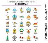 christmas flat line icon set  ... | Shutterstock .eps vector #1228325794
