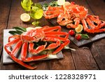 snow crab on a plate | Shutterstock . vector #1228328971