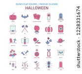 halloween icon dusky flat color ... | Shutterstock .eps vector #1228331674