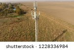 cellular tower. equipment for... | Shutterstock . vector #1228336984