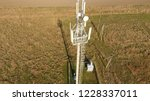 cellular tower. equipment for... | Shutterstock . vector #1228337011