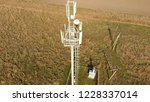 cellular tower. equipment for... | Shutterstock . vector #1228337014