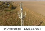 cellular tower. equipment for... | Shutterstock . vector #1228337017