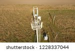 cellular tower. equipment for... | Shutterstock . vector #1228337044