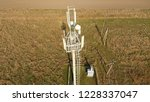 cellular tower. equipment for... | Shutterstock . vector #1228337047