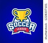 soccer league badge graphic... | Shutterstock .eps vector #1228337101