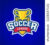 soccer league badge graphic... | Shutterstock .eps vector #1228337131