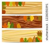 autumn banners. three autumn...   Shutterstock .eps vector #1228350391