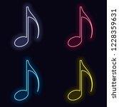 music note icon. set of fashion ...