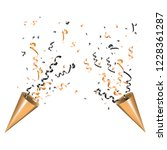 two exploding party popper with ...   Shutterstock .eps vector #1228361287
