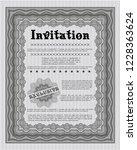 grey formal invitation template.... | Shutterstock .eps vector #1228363624