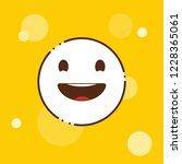laughing emoji icon design... | Shutterstock .eps vector #1228365061