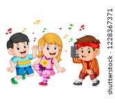 vector illustration of kids... | Shutterstock .eps vector #1228367371