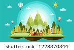christmas and landscape...   Shutterstock .eps vector #1228370344