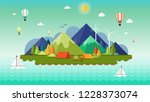 christmas and landscape...   Shutterstock .eps vector #1228373074