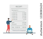 the concept of receiving a... | Shutterstock .eps vector #1228381624