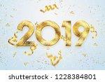 creative background  2019 happy ... | Shutterstock . vector #1228384801