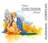 illustration of happy gurpurab  ... | Shutterstock .eps vector #1228391101