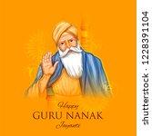 illustration of happy gurpurab  ... | Shutterstock .eps vector #1228391104